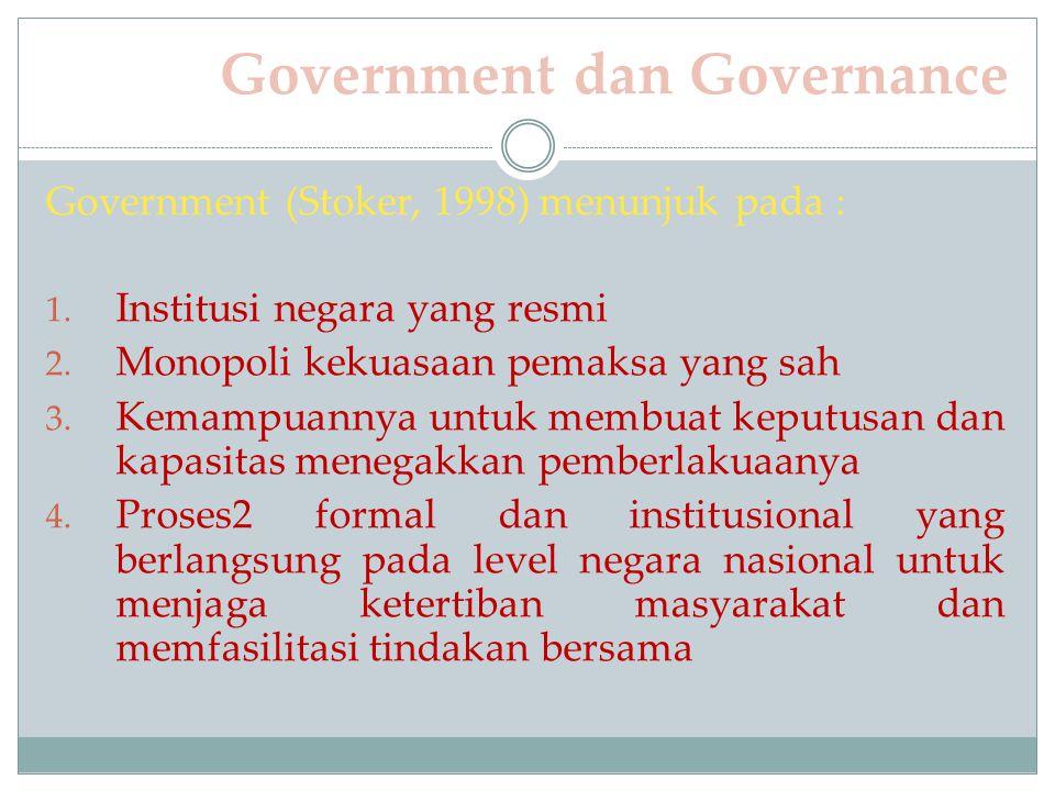 Government dan Governance