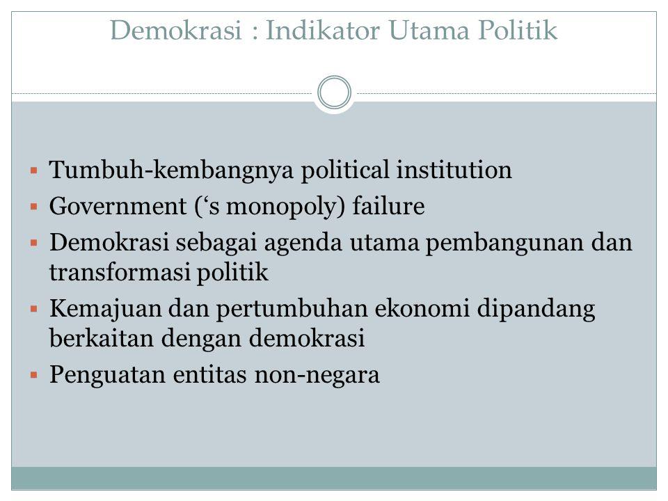 Demokrasi : Indikator Utama Politik