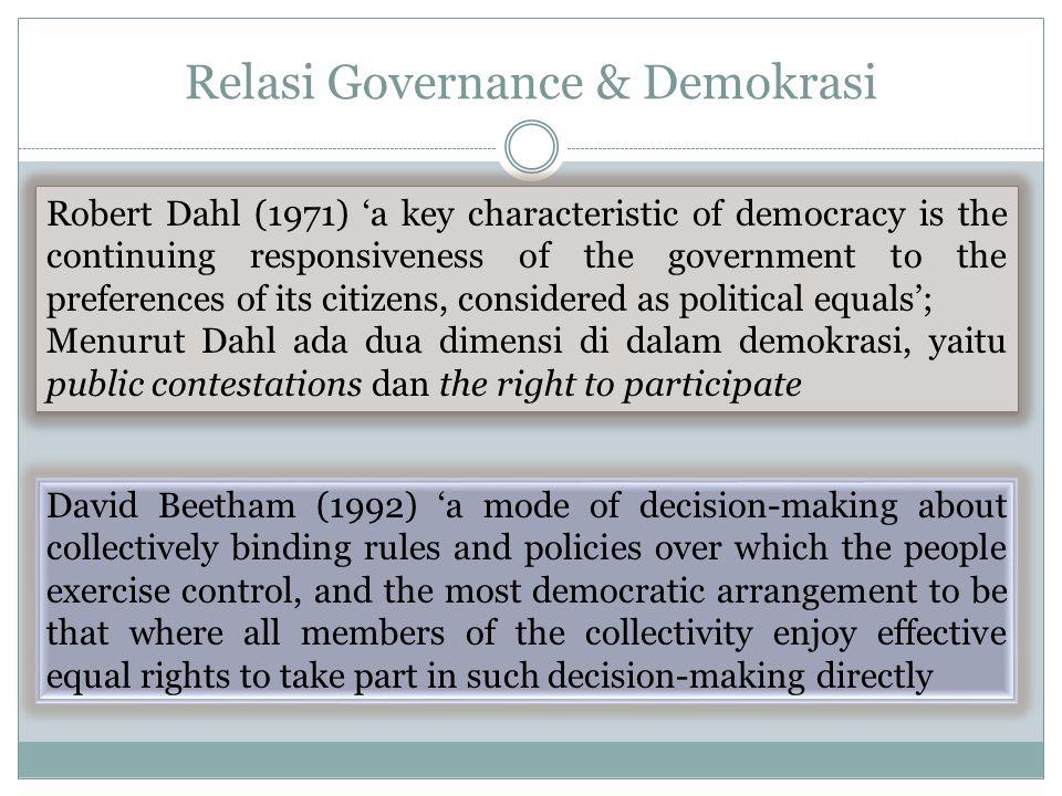 Relasi Governance & Demokrasi