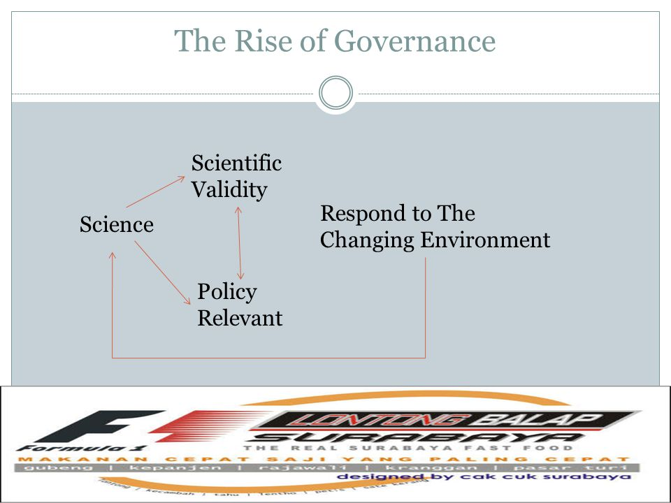 The Rise of Governance Scientific Validity