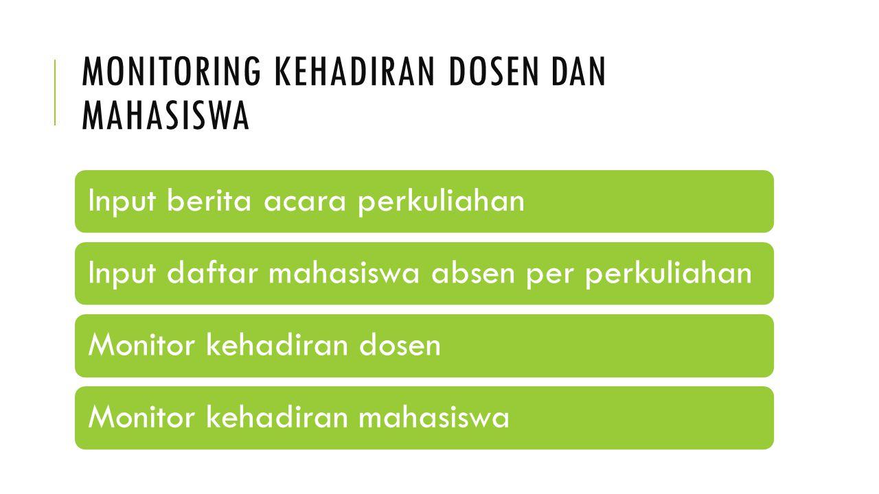 MONITORING KEHADIRAN DOSEN DAN MAHASISWA
