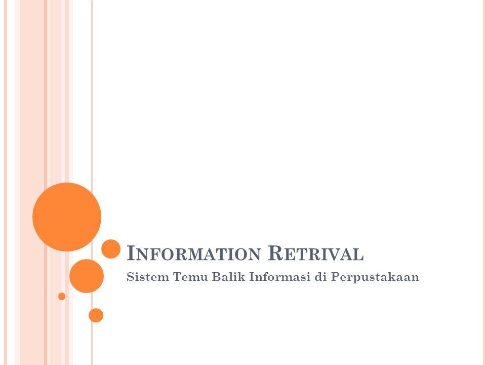 Sistem Temu Balik Informasi di Perpustakaan