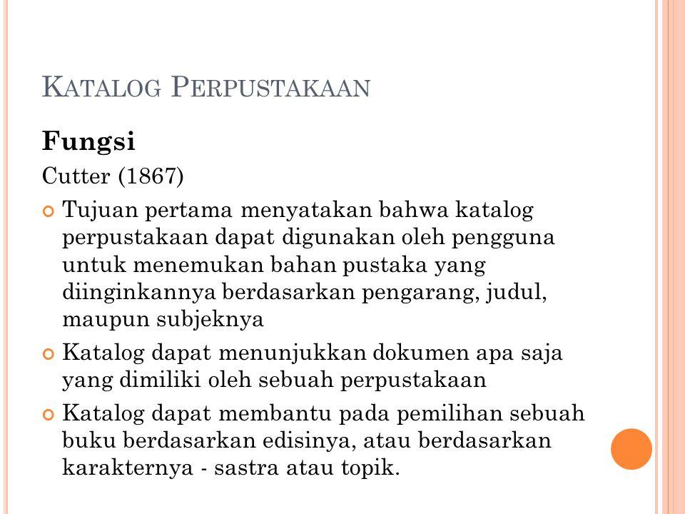 Katalog Perpustakaan Fungsi Cutter (1867)