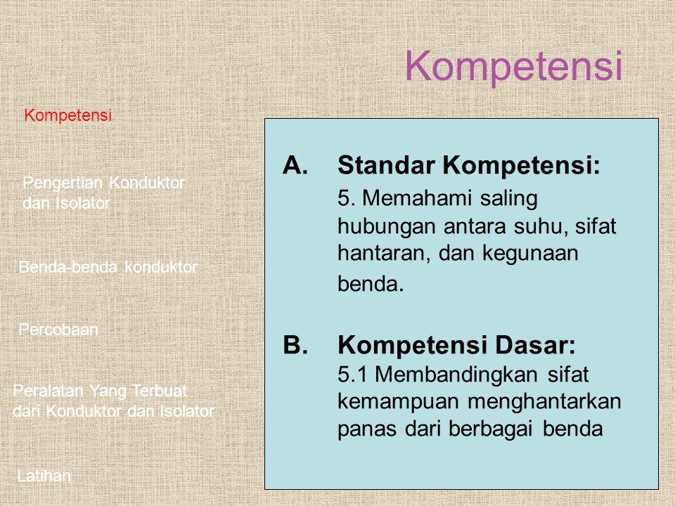 Kompetensi A. Standar Kompetensi: