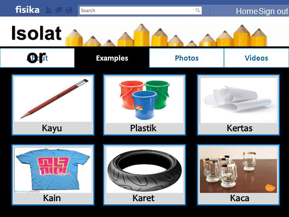 Isolator Kayu Plastik Kertas Kain Karet Kaca Home Sign out About