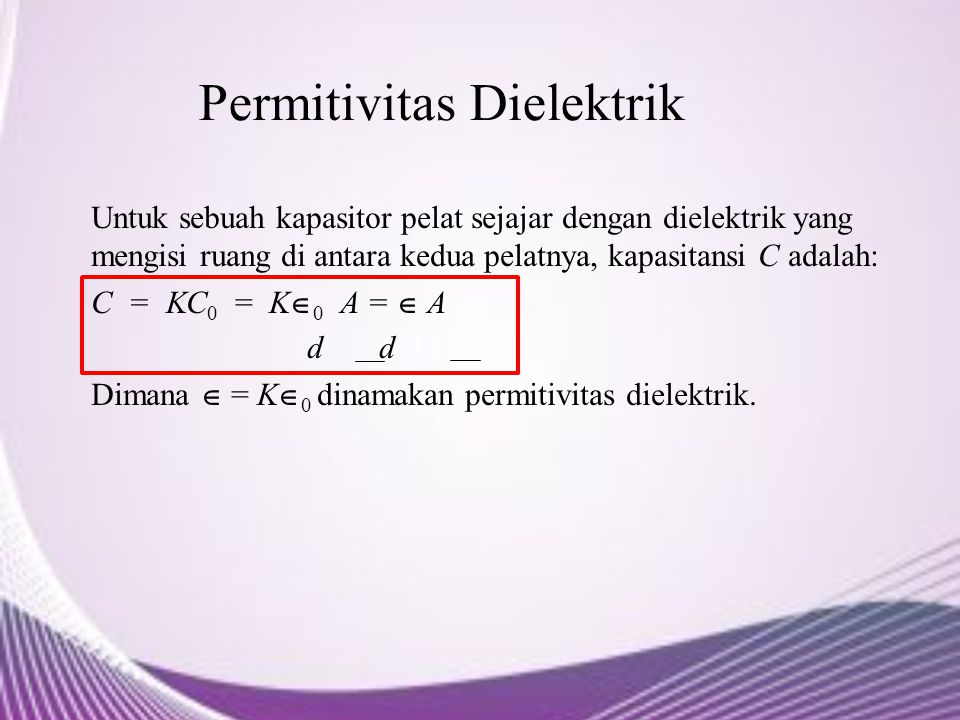 Permitivitas Dielektrik
