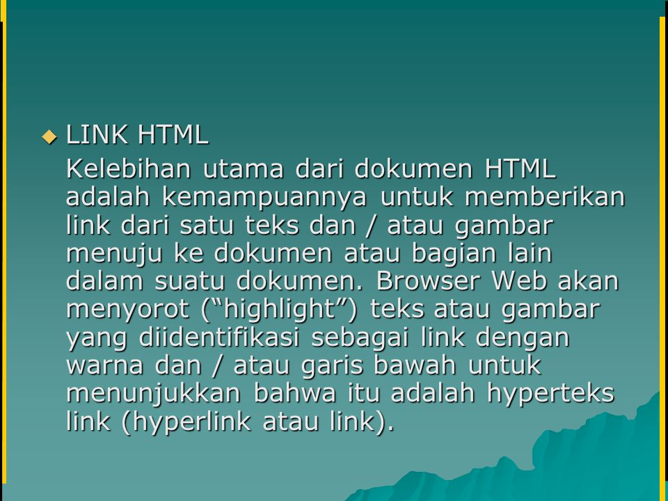 LINK HTML
