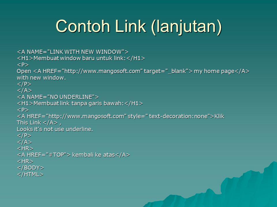 Contoh Link (lanjutan)