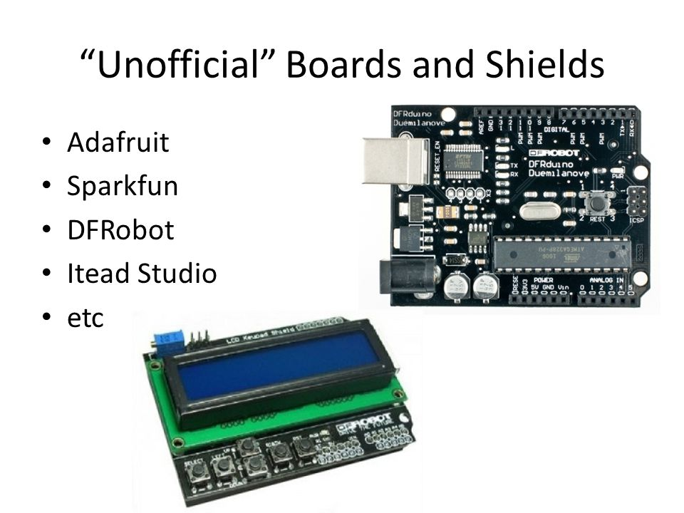 Unofficial Boards and Shields