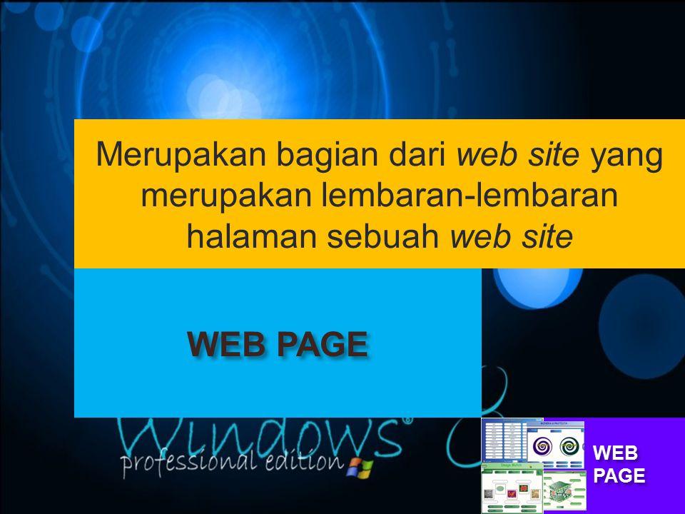 Merupakan bagian dari web site yang merupakan lembaran-lembaran halaman sebuah web site