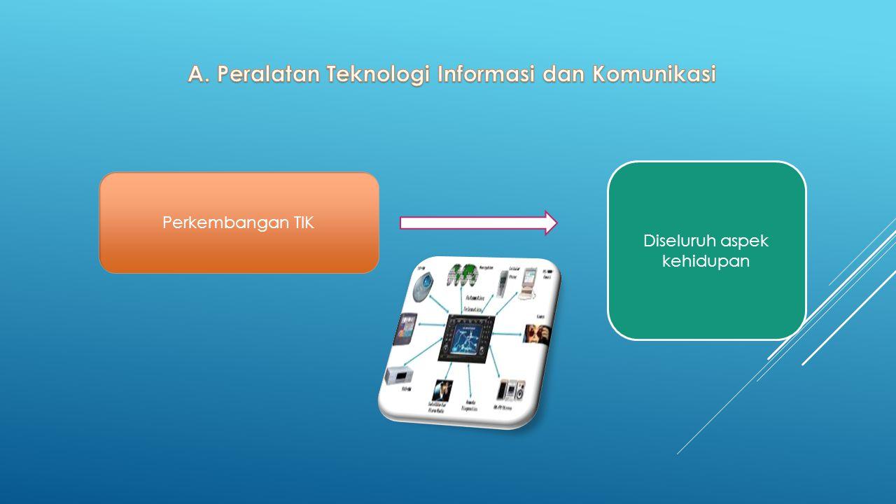 A. Peralatan Teknologi Informasi dan Komunikasi