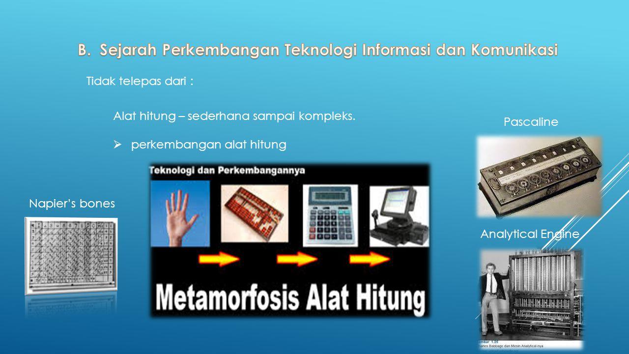 B. Sejarah Perkembangan Teknologi Informasi dan Komunikasi