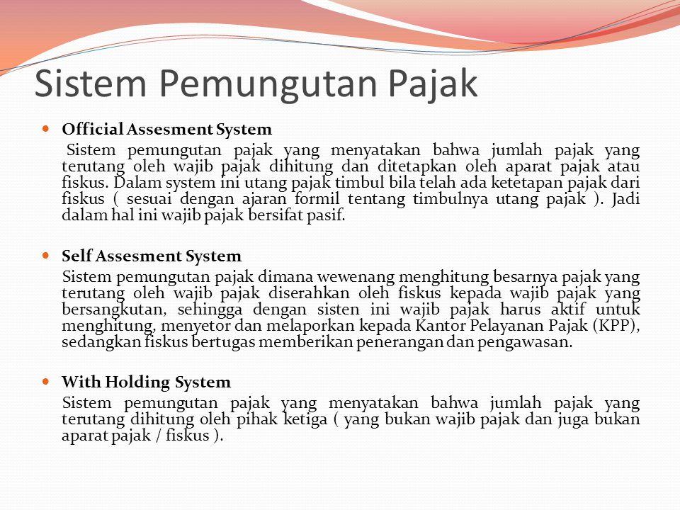 Sistem Pemungutan Pajak