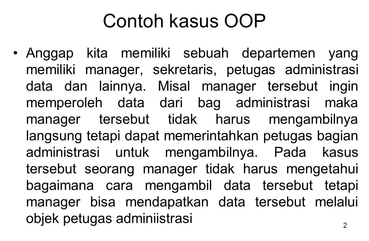 Contoh kasus OOP