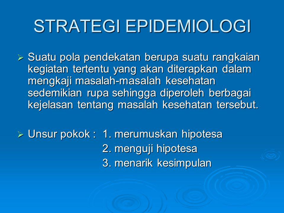 STRATEGI EPIDEMIOLOGI