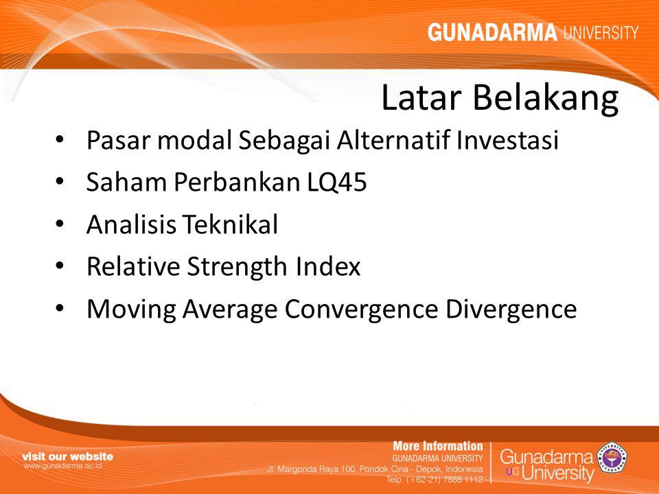 Latar Belakang Pasar modal Sebagai Alternatif Investasi