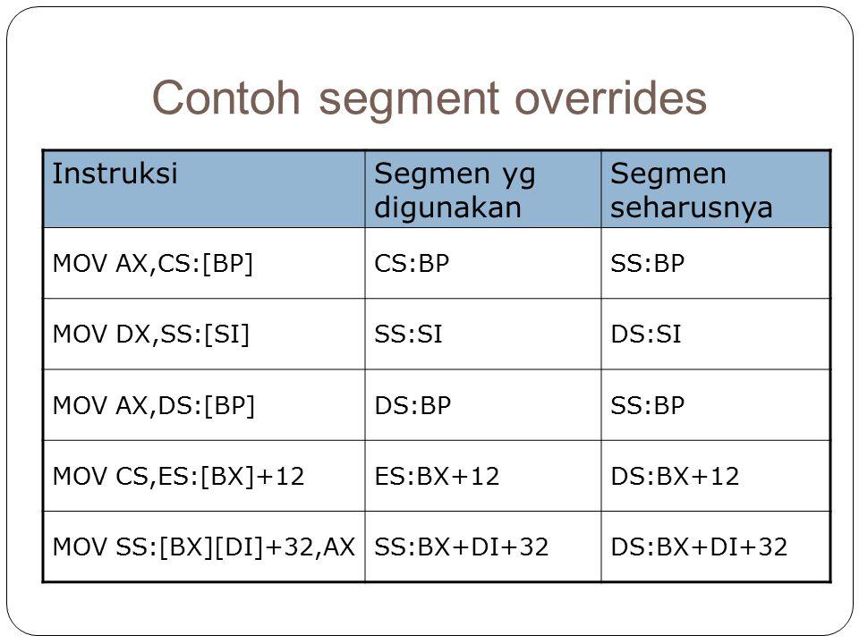 Contoh segment overrides