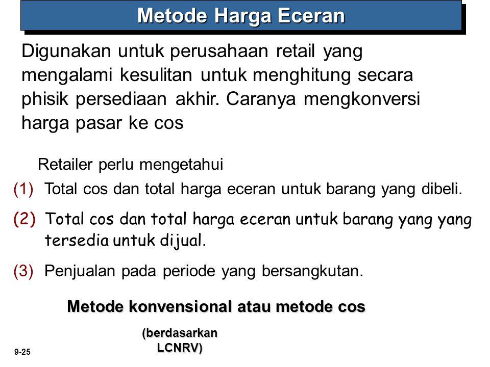 Metode konvensional atau metode cos