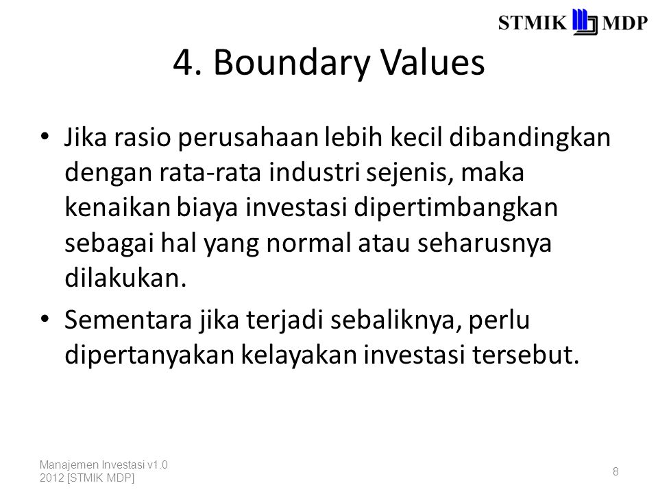 4. Boundary Values