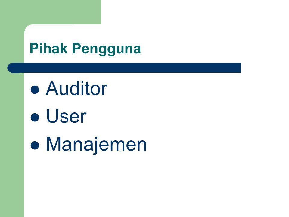 Pihak Pengguna Auditor User Manajemen
