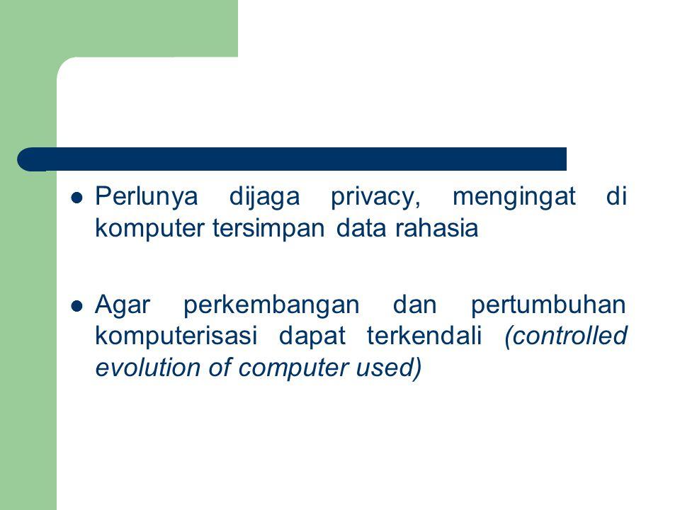 Perlunya dijaga privacy, mengingat di komputer tersimpan data rahasia