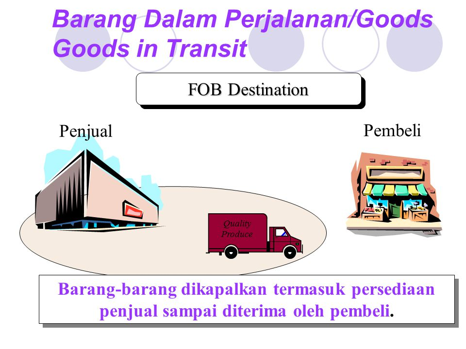 Barang Dalam Perjalanan/Goods Goods in Transit