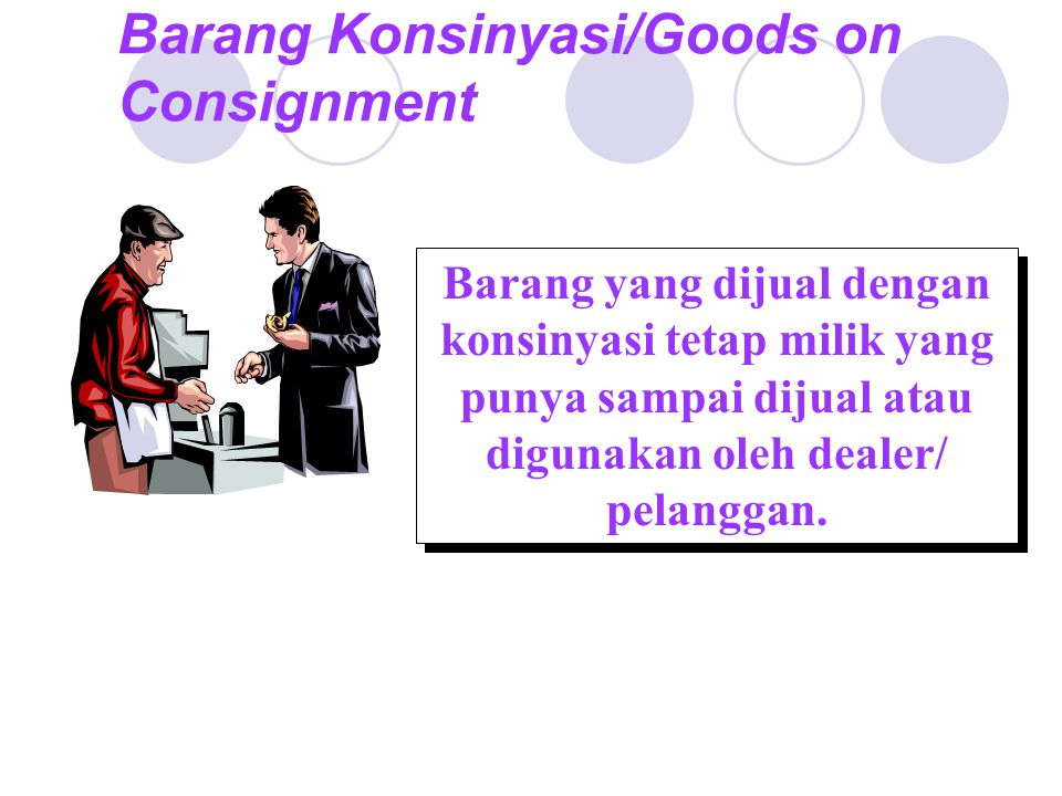 Barang Konsinyasi/Goods on Consignment