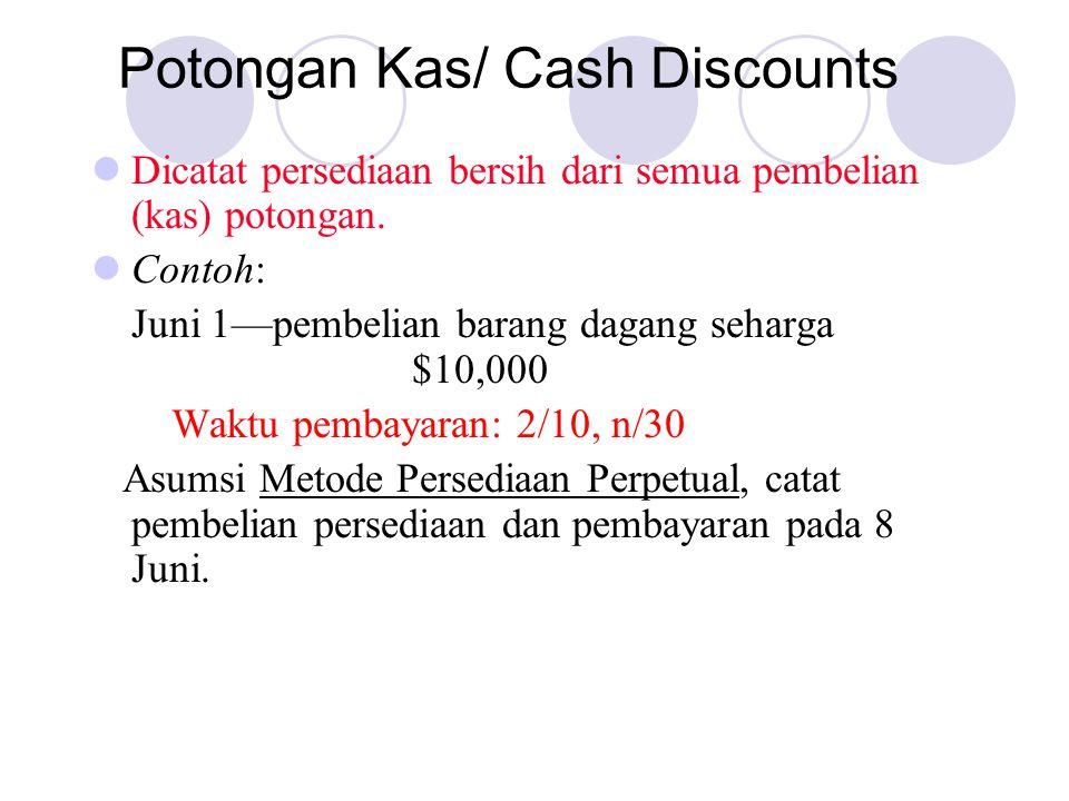 Potongan Kas/ Cash Discounts