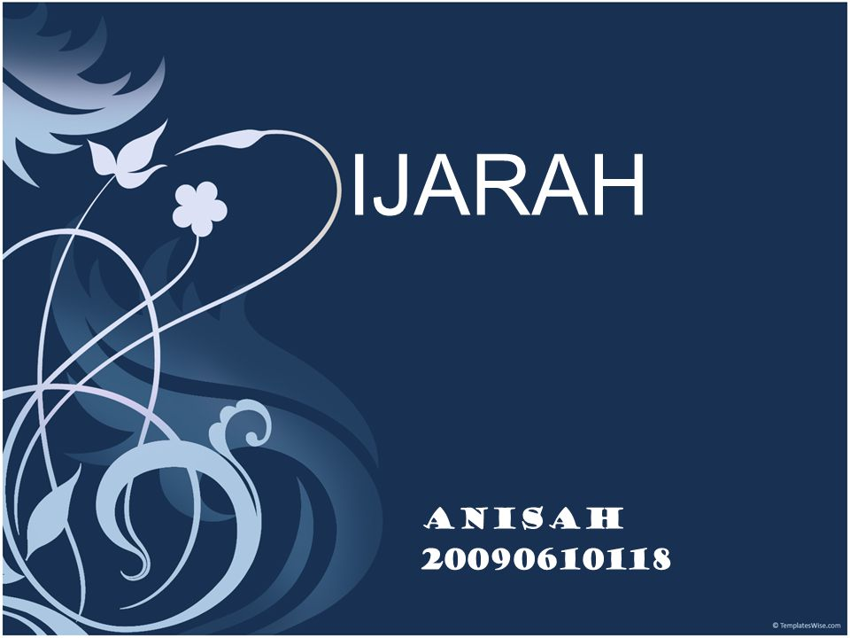 IJARAH Anisah 20090610118