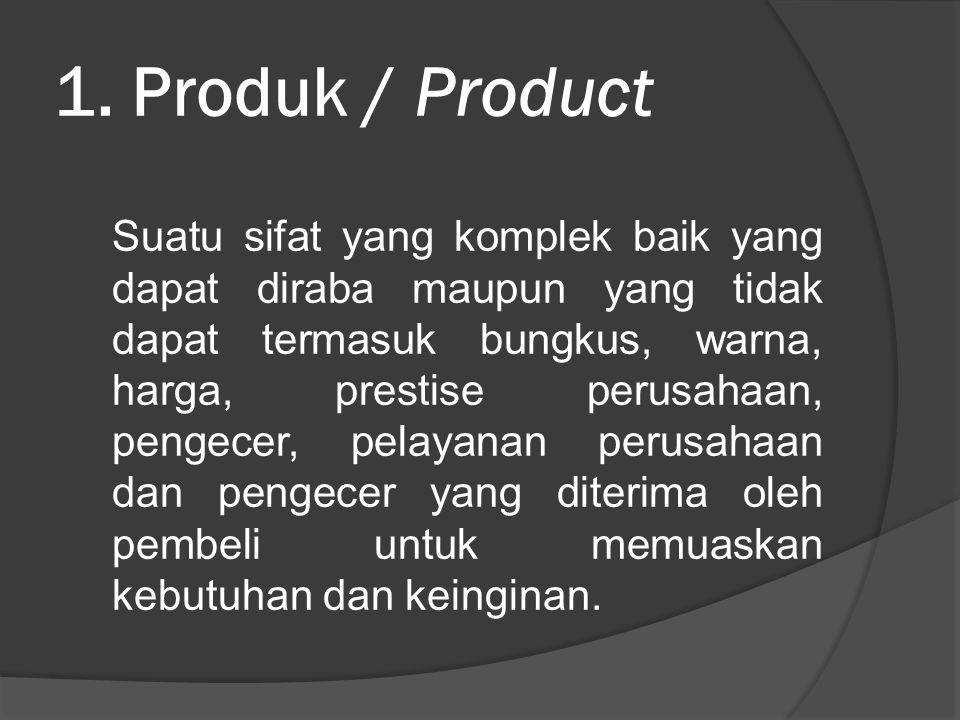 1. Produk / Product