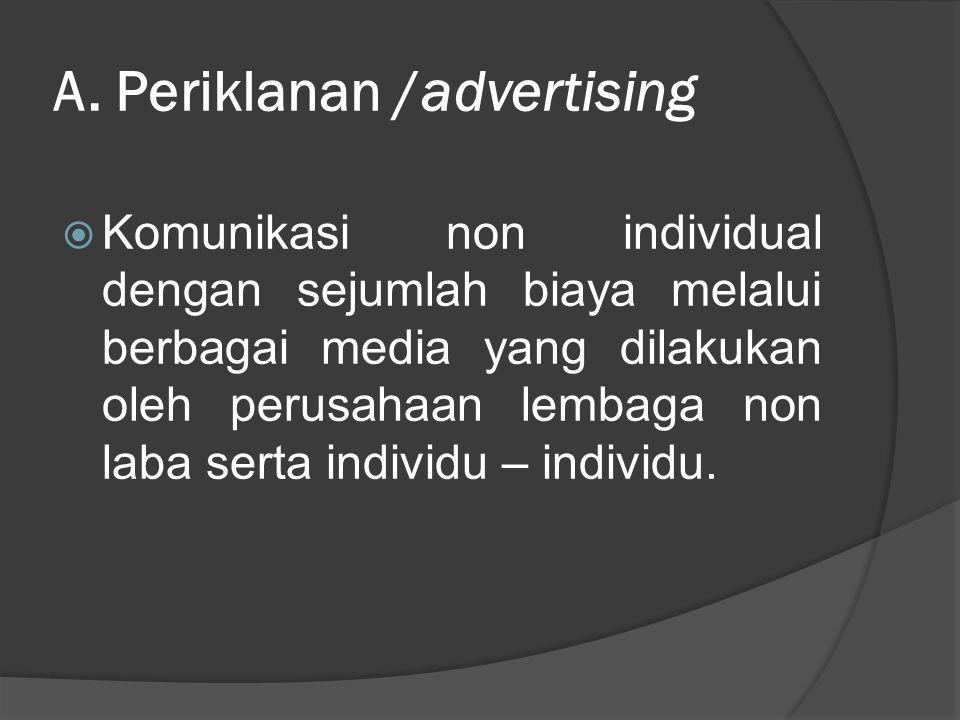 A. Periklanan /advertising