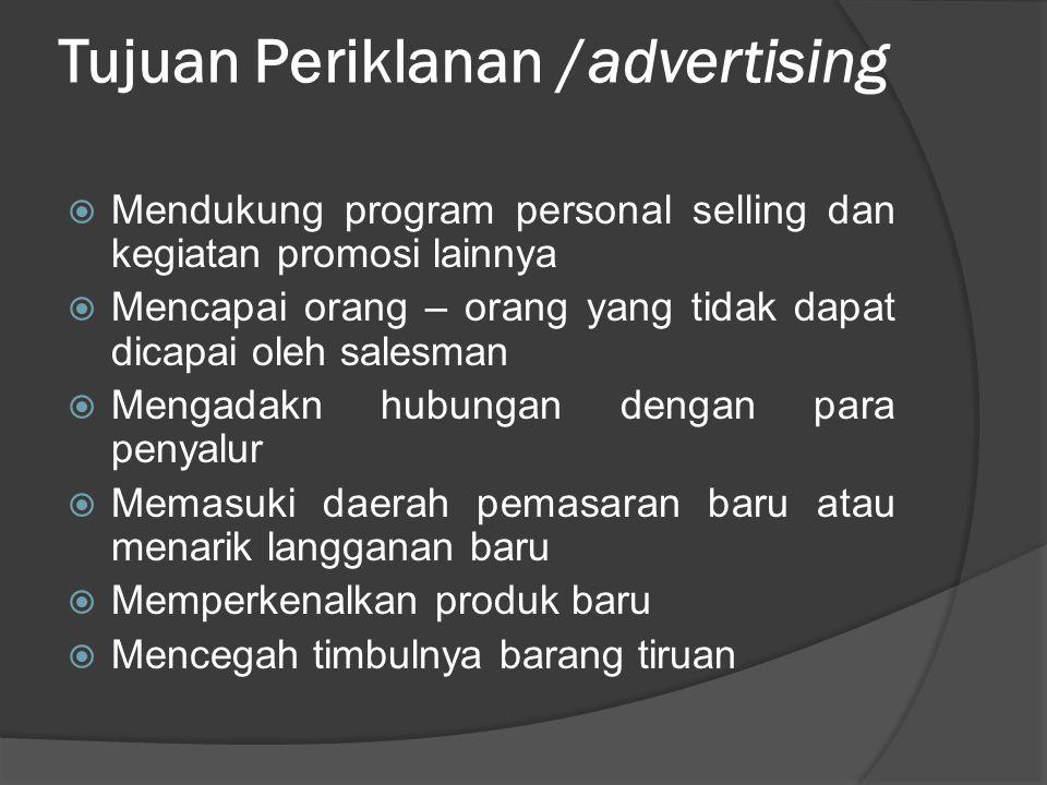 Tujuan Periklanan /advertising