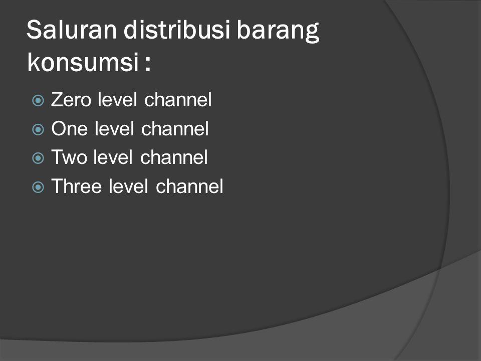 Saluran distribusi barang konsumsi :