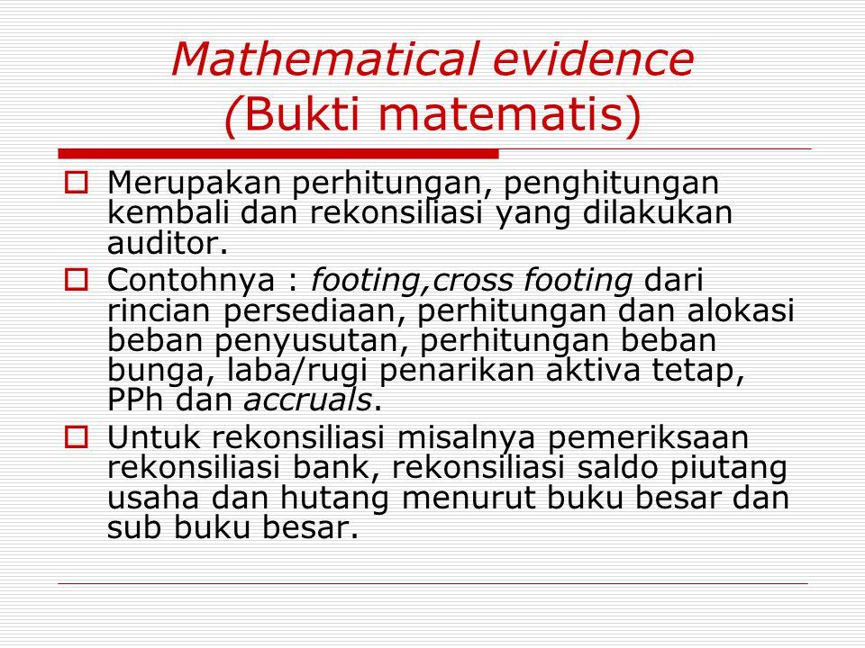 Mathematical evidence (Bukti matematis)