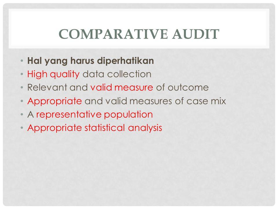 comparative audit Hal yang harus diperhatikan