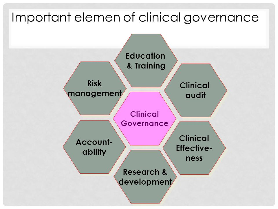 Important elemen of clinical governance