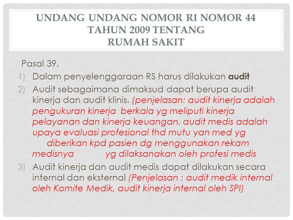 Undang Undang Nomor RI Nomor 44 Tahun 2009 tentang Rumah Sakit
