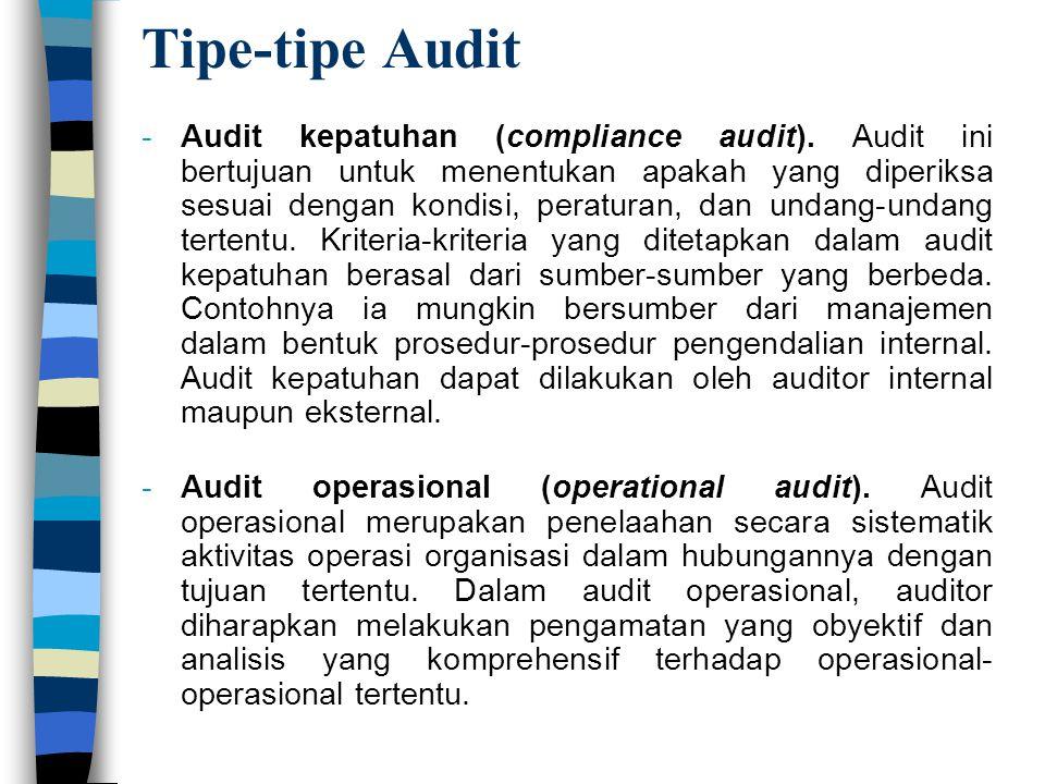 Tipe-tipe Audit