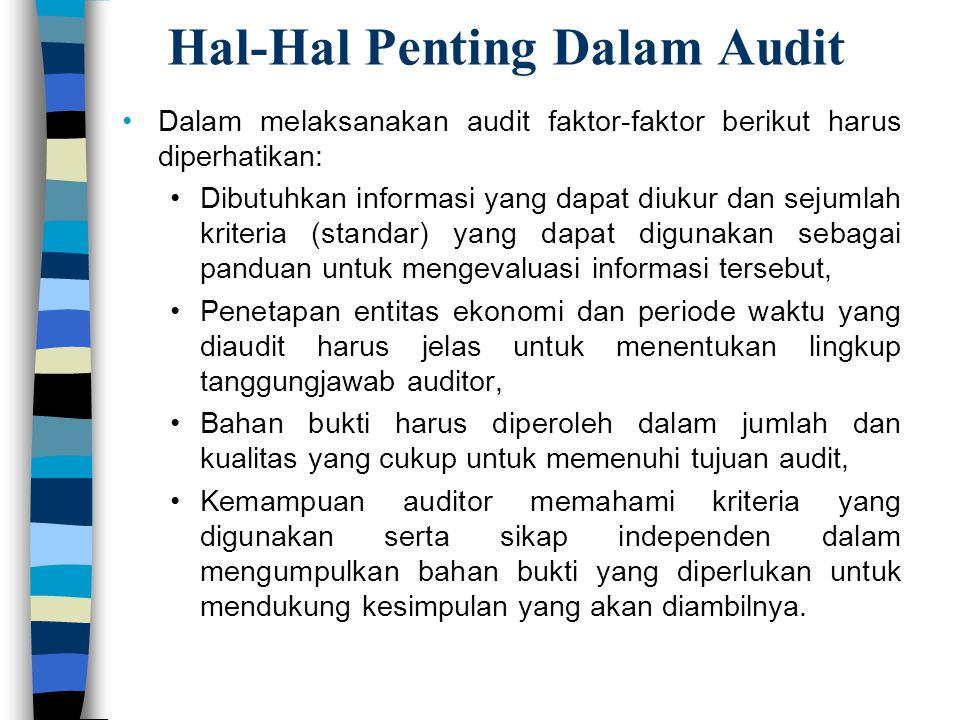 Hal-Hal Penting Dalam Audit
