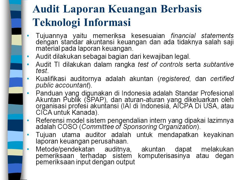 Audit Laporan Keuangan Berbasis Teknologi Informasi