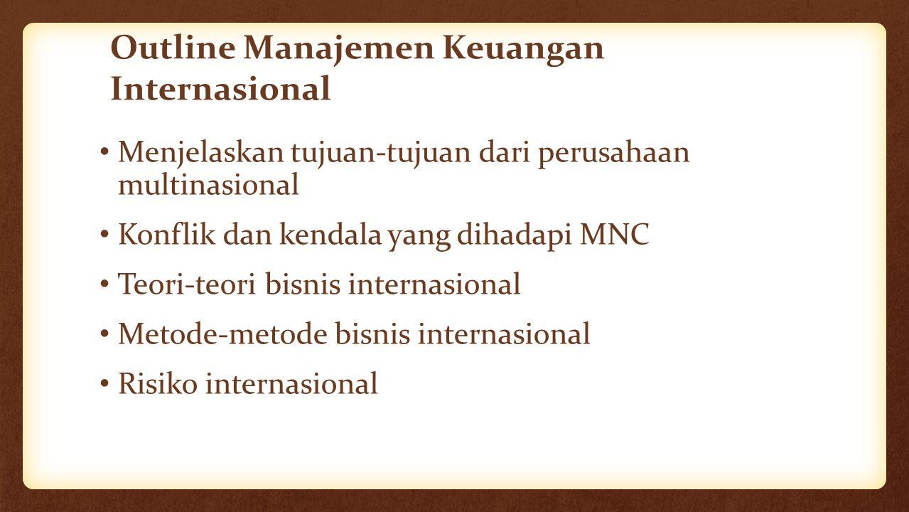 Outline Manajemen Keuangan Internasional