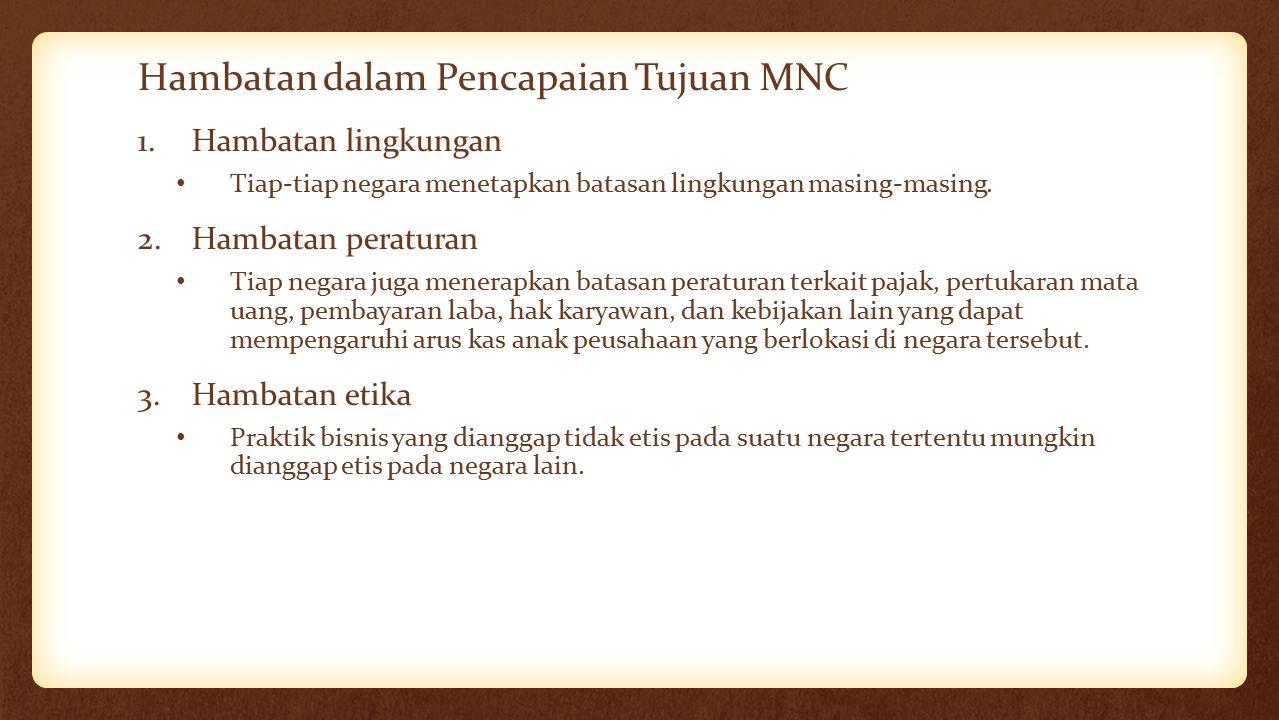 Hambatan dalam Pencapaian Tujuan MNC