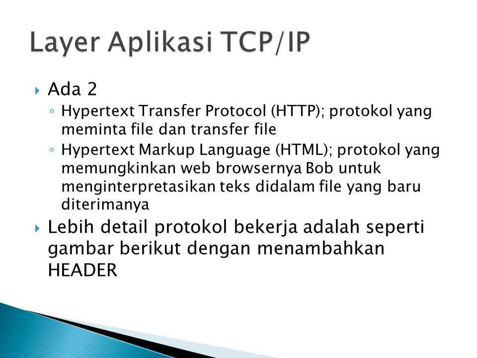 Layer Aplikasi TCP/IP Ada 2