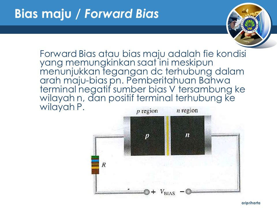 Bias maju / Forward Bias