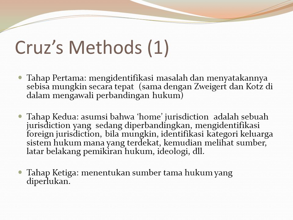 Cruz's Methods (1)