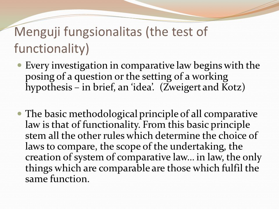 Menguji fungsionalitas (the test of functionality)