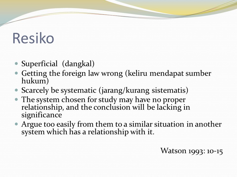 Resiko Superficial (dangkal)