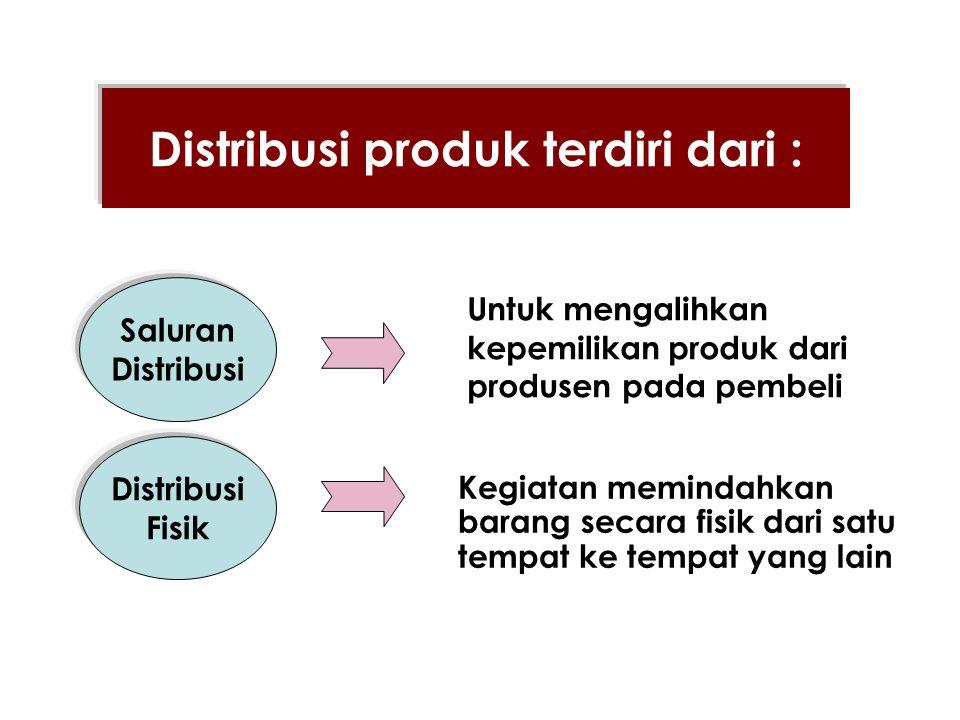 Distribusi produk terdiri dari :