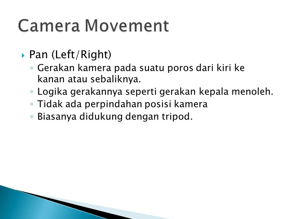 Camera Movement Pan (Left/Right)