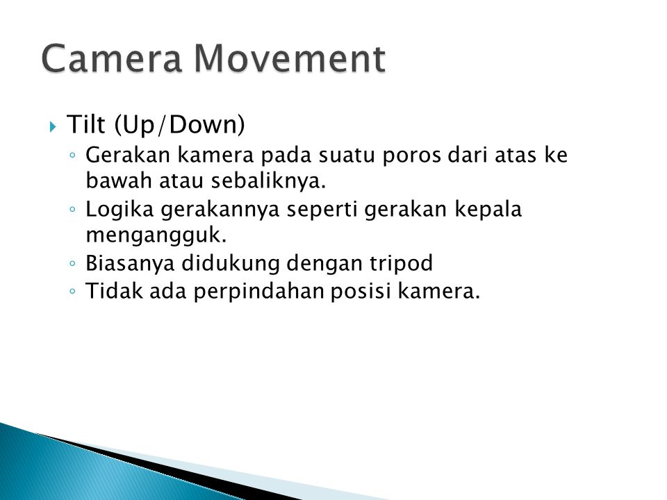 Camera Movement Tilt (Up/Down)